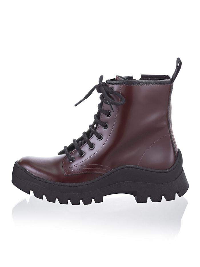 Boot met trendy zool
