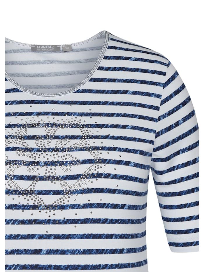 Shirt mit Streifenmuster und Ziersteinen
