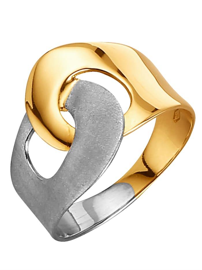 Diemer Gold Damenring bicolor, Multicolor