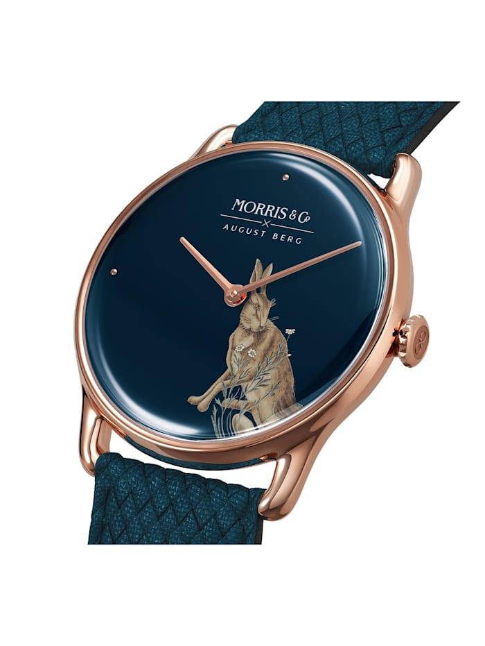 Uhr MORRIS & CO Rose Gold Indigo Perlon 38mm