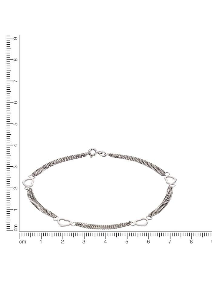 Fußkette 925/- Sterling Silber 25cm Glänzend