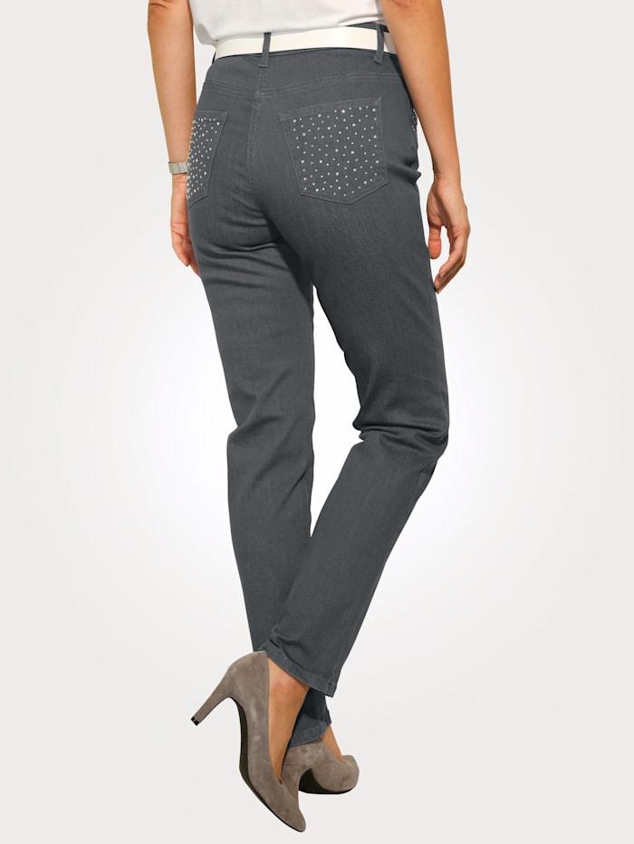 Jeans met applicaties