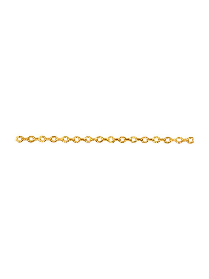 Ankerkette strukturiert, Gelbgoldfarben