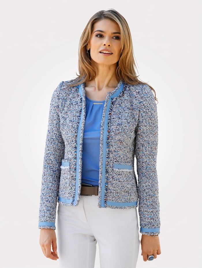MONA Bouclé blazer, Light Blue