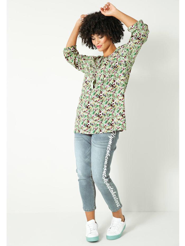 Bluse allover floral bedruckt
