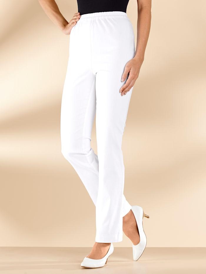 MIAMODA Jean taille extensible confortable, Blanc