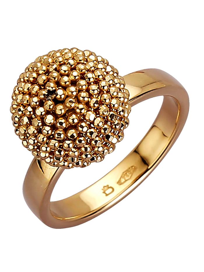 Damenring in Gold 750, Gelbgoldfarben