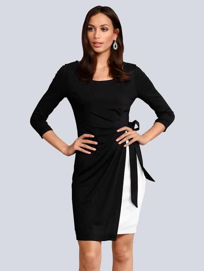 Alba Moda Kleid mit Schleifendetail, Schwarz