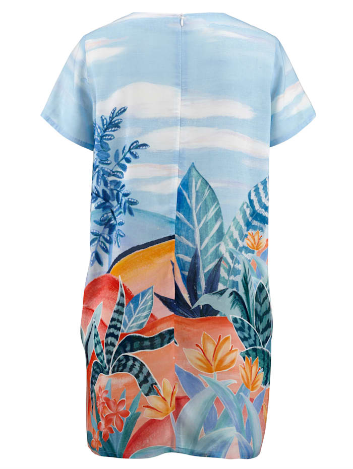 Robe de plage à imprimé estival