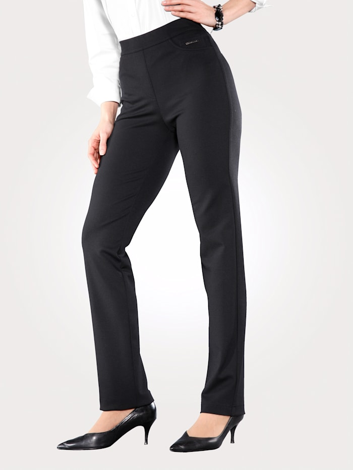 Relaxed by Toni Jersey trousers in pull-on style, Black