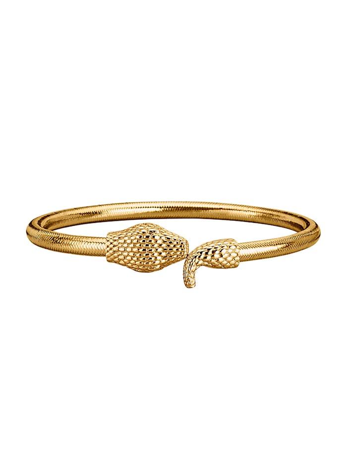 Golden Style Schlangen-Armspange vergoldet, Gelbgoldfarben