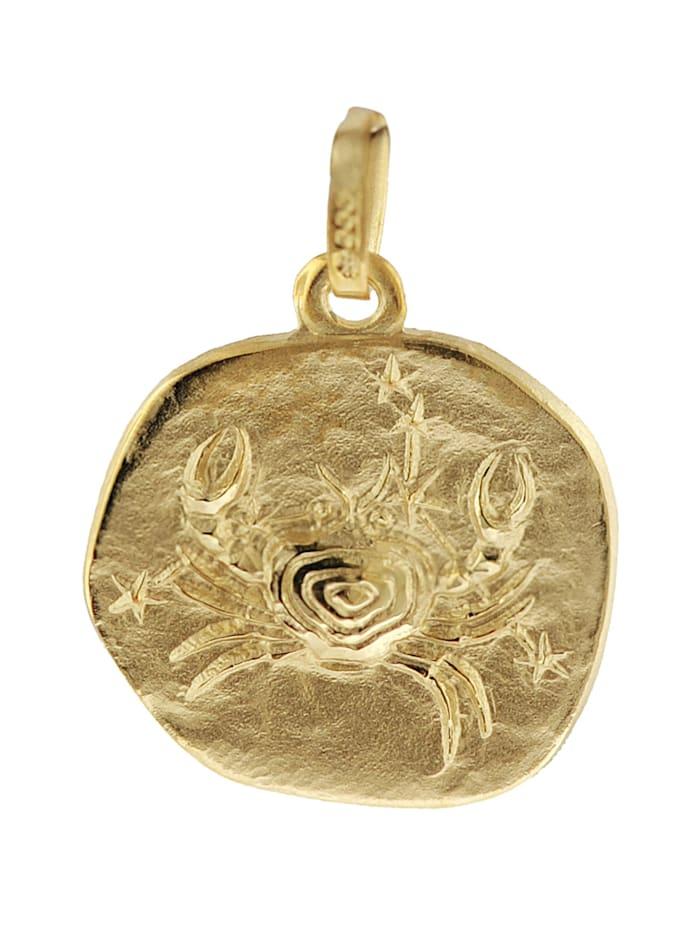 trendor Sternzeichen-Anhänger Krebs 585 Gold 16 mm, Goldfarben