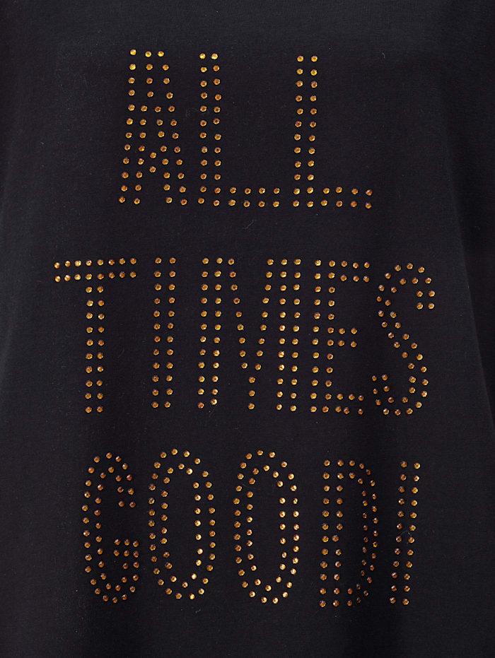 Shirt mit Dekosteinchen Schriftzug