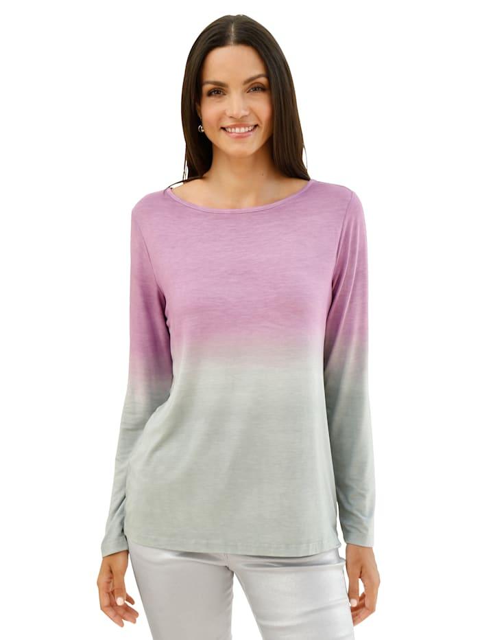 AMY VERMONT Shirt in Degrade-Optik, Flieder/Grau
