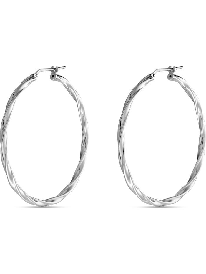 FAVS. FAVS Damen-Creolen 925er Silber rhodiniert, silber
