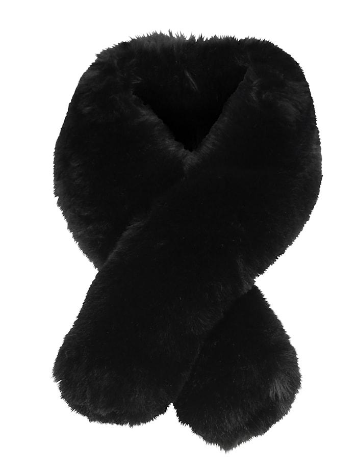MONA Sjaal met lus, Zwart