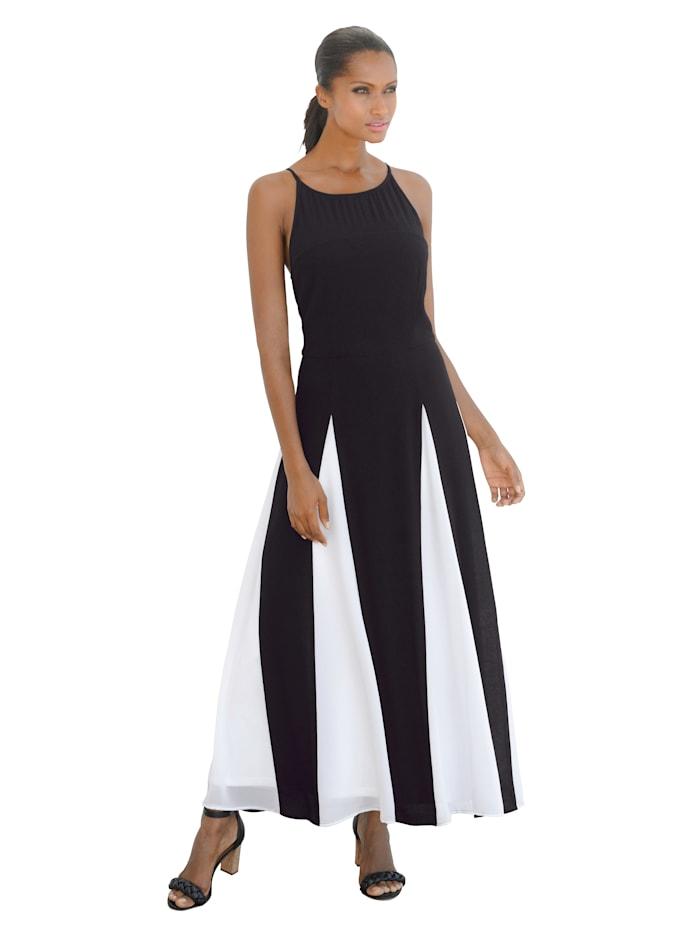 Chiffon-Kleid in Two-Tone-Optik