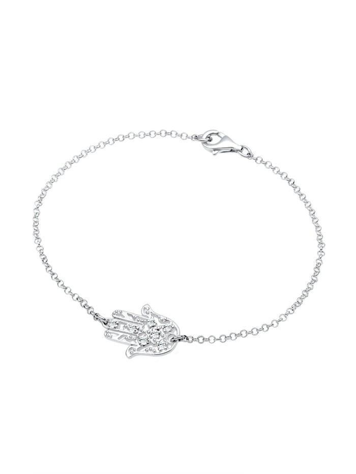 Armband Hamsa Hand Swarovski® Kristalle 925 Silber