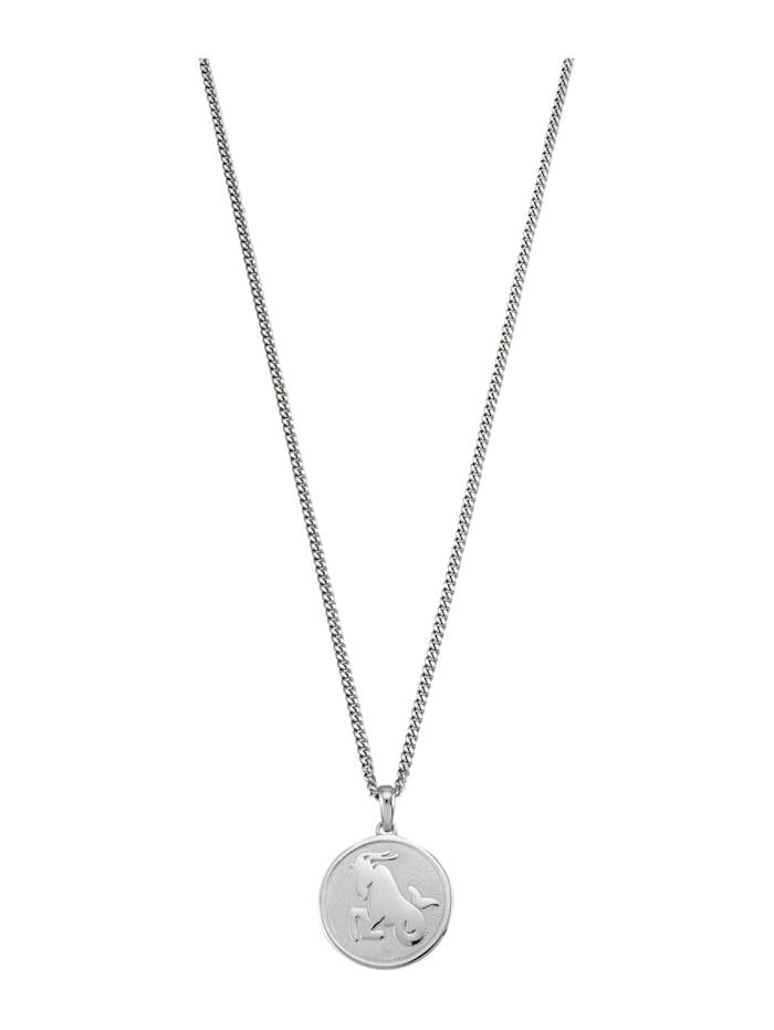 Halsband med stjärntecken Stenbocken, Vit