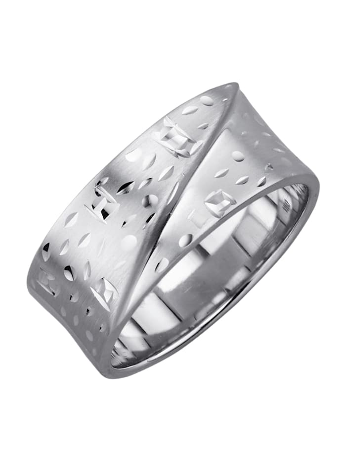 Damenring aus Silber, Silberfarben