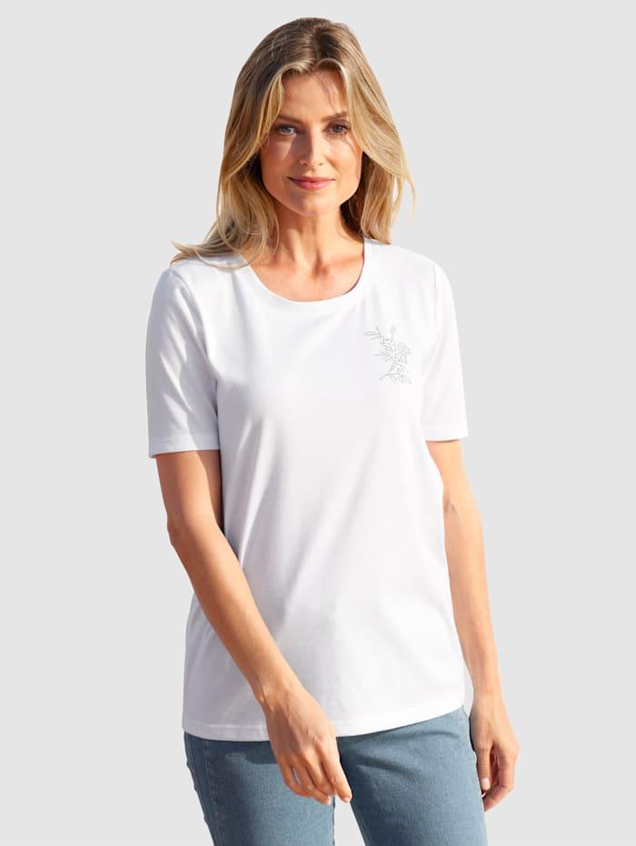 basically you T-shirt avec pierres fantaisie, Blanc