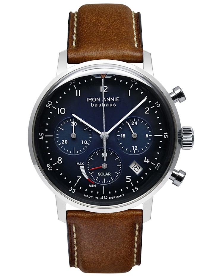 Iron Annie Herren-Armbanduhr Bauhaus Solar Chronograph 5086, nachtblau