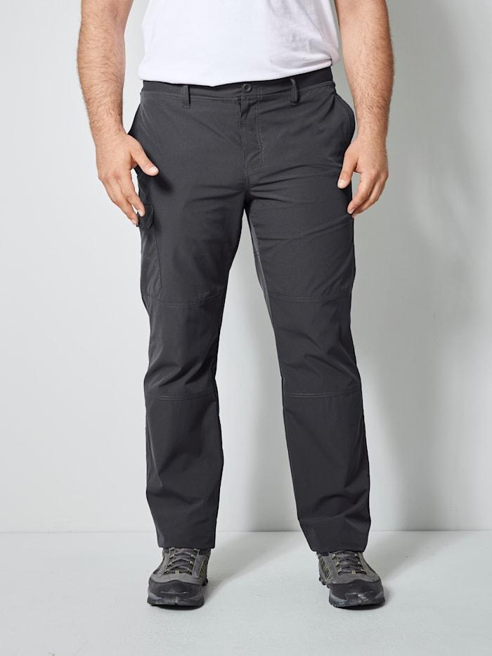 Men Plus Trekkinghose mit einer aufgesetzten Tasche am Bein, Grau