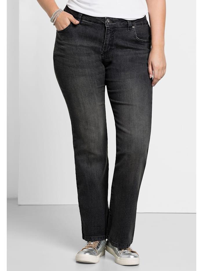 Sheego Jeans MAILA, black Denim