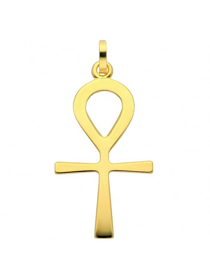 1001 Diamonds Damen & Herren Goldschmuck 585 Gold Kreuz Anhänger Lebenszeichen, gold