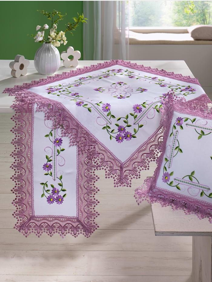 Webschatz Linge de table 'Madita', Blanc/multicolore