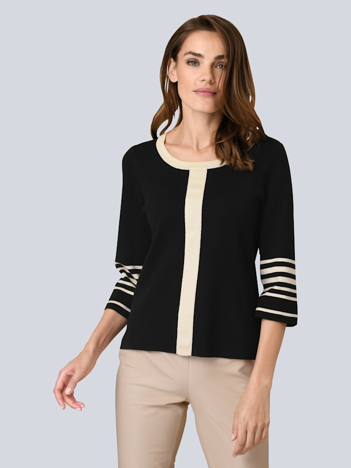 Pullover in Kontrast-Farben