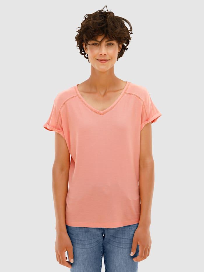 Dress In Shirt mit Crochettapedetails, Apricot