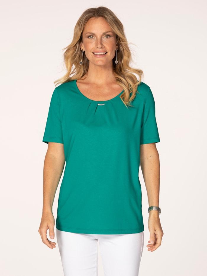 MONA T-shirt en fine maille jersey, Émeraude