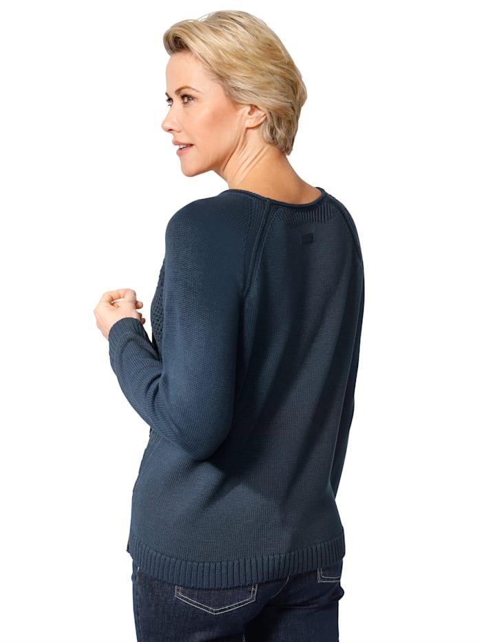 Pullover im Strukturstrickmix