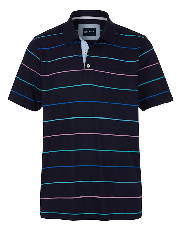 BABISTA Polo avec 1 poche poitrine, Bleu foncé