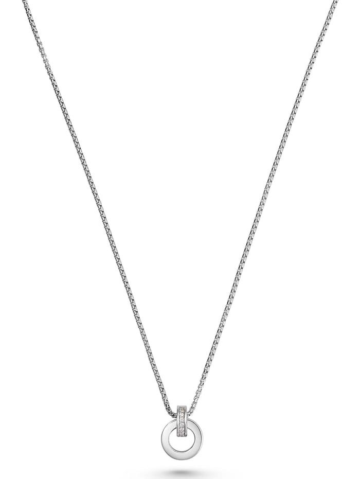 Jette JETTE Silver Damen-Kette 925er Silber 18 Zirkonia, silber