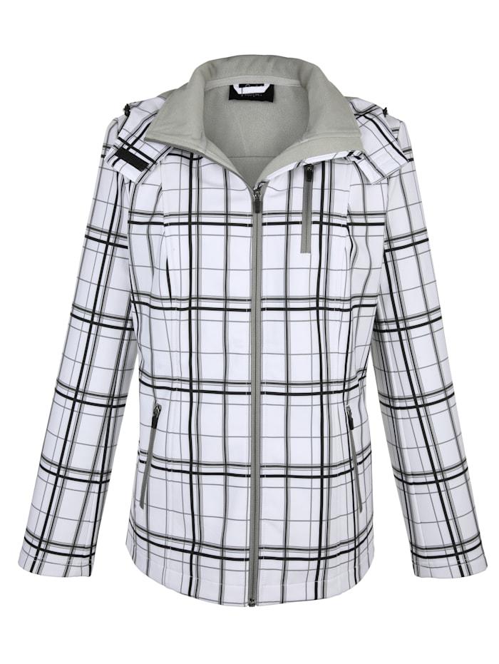 Softshell jas met warme fleece voering