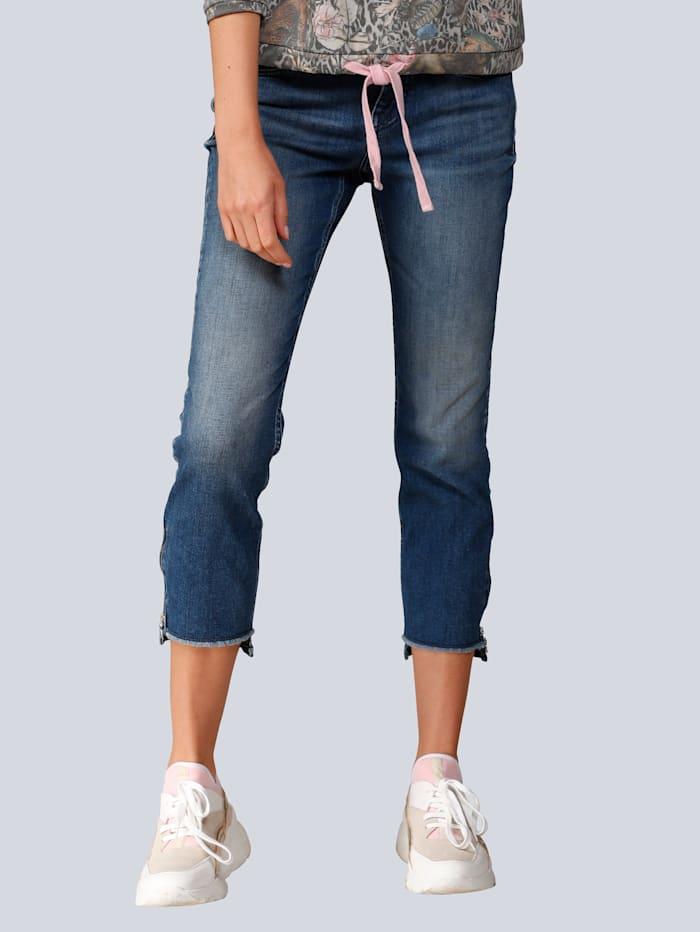 MAC Jeans mit Destroyed Effekten, Blue stone