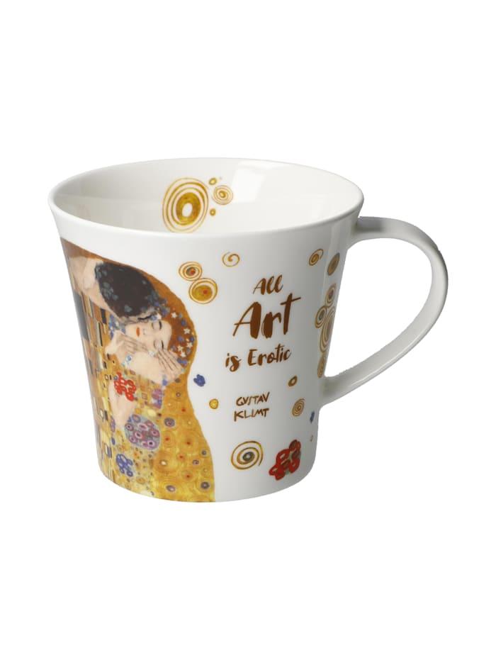 Goebel Goebel Coffee-/Tea Mug Gustav Klimt - All Art is Erotic, Bunt