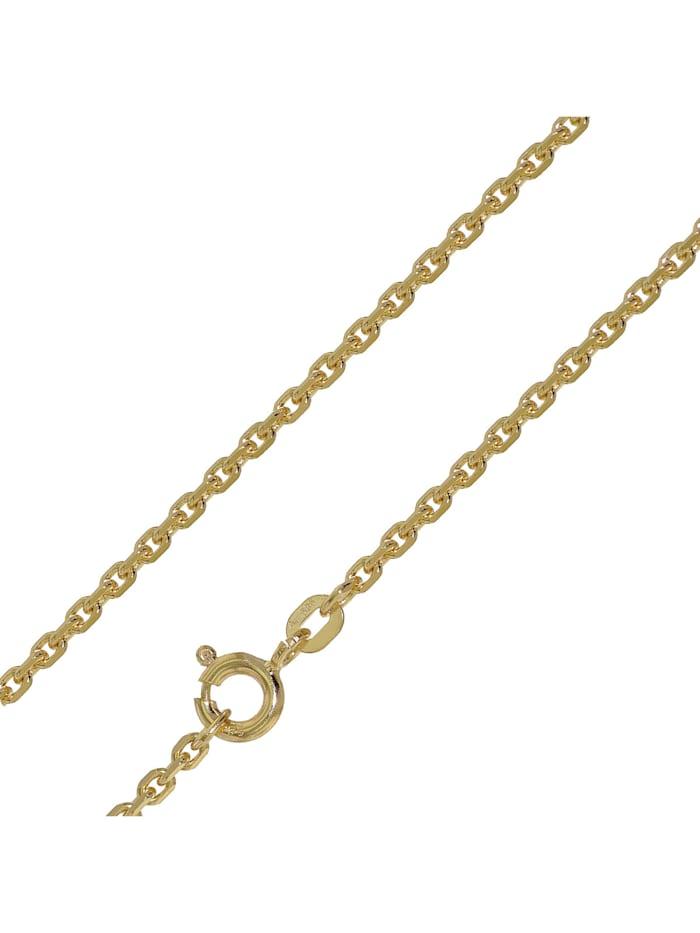trendor Halskette für Anhänger 14 Karat Gold 585 Ankerkette 1,9 mm, Goldfarben