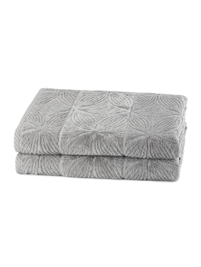 Döhler Handtücher Agatha 2-teilig, grau