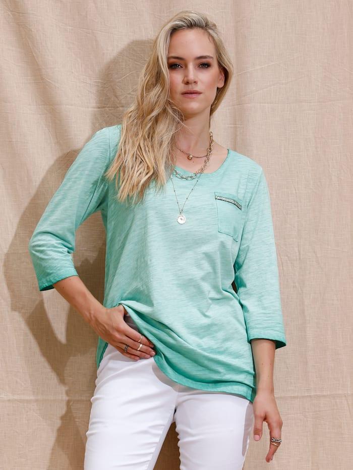 MIAMODA Shirt mit aufgesetzter Tasche, Mintgrün