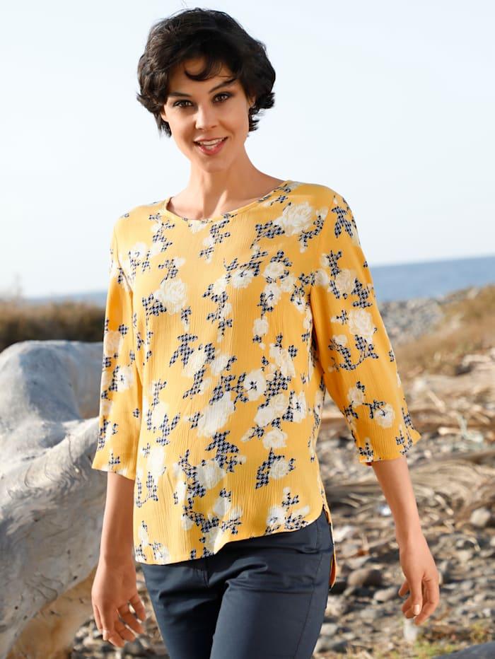 Dress In Bluse mit Blumenprint, Gelb