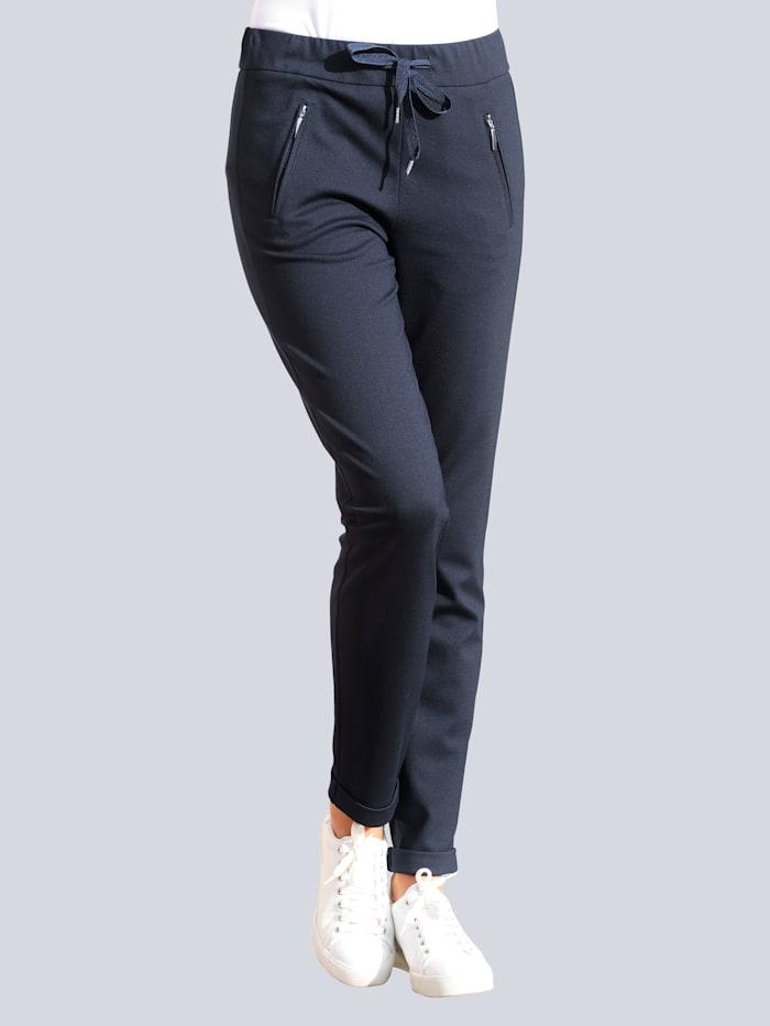 Alba Moda Jogpant aus Interlock-Qualität, Marineblau