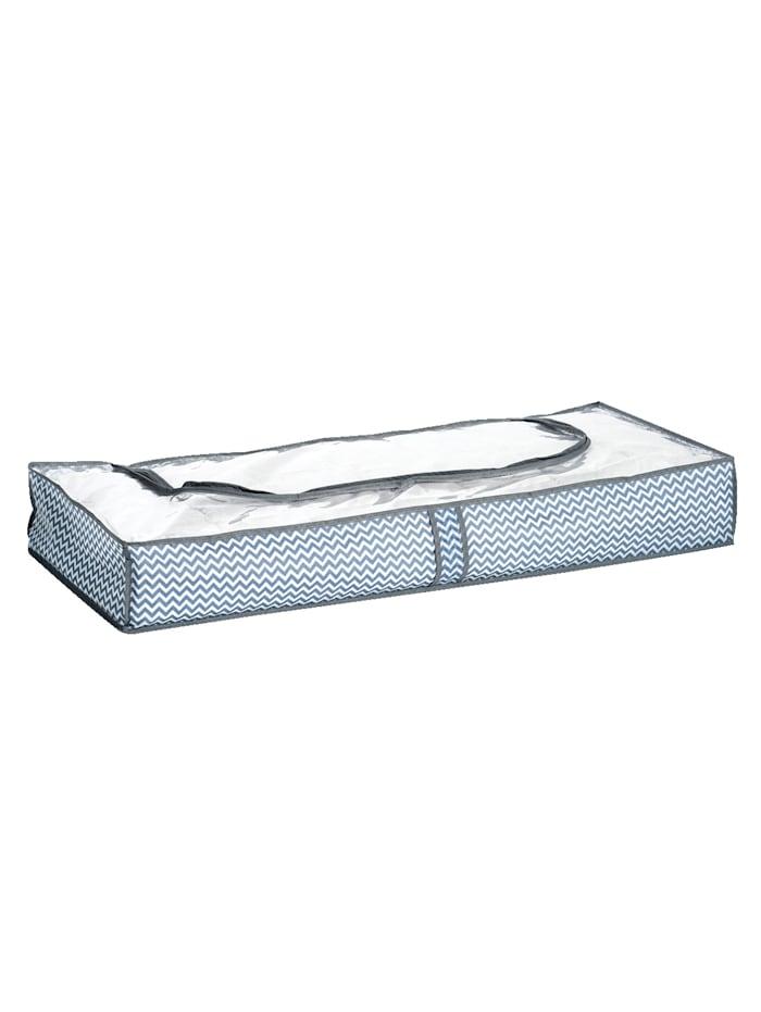 Zeller Lot de 2 housses de rangement sous lit, blanc/gris