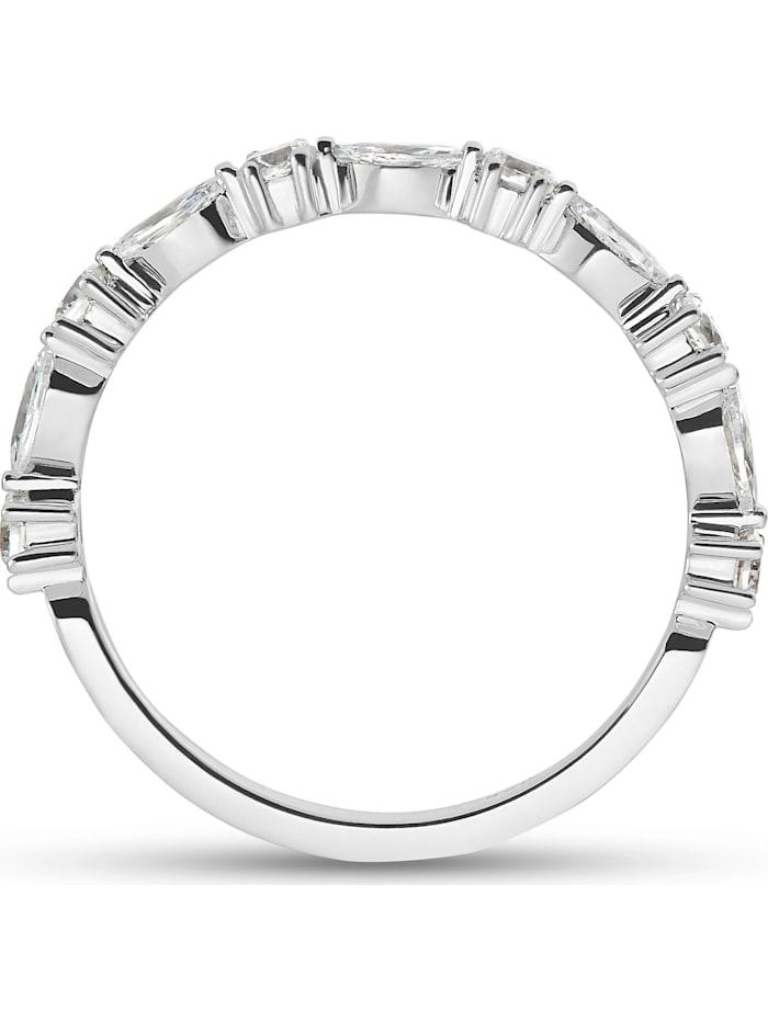 FAVS Damen-Damenring Silber 6 Zirkonia