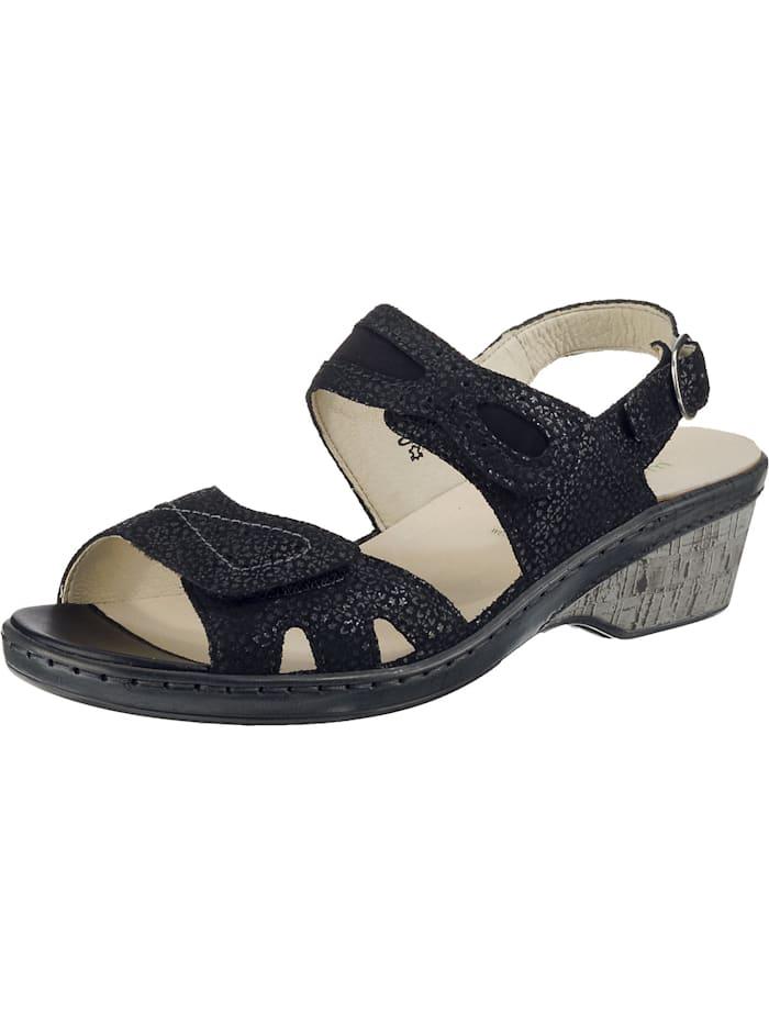 Waldläufer Hetta Klassische Sandaletten, schwarz