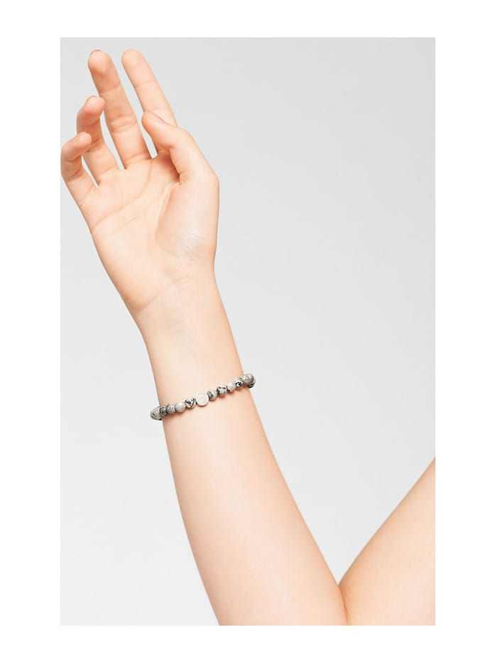 Liebeskind Damen-Armband Stein, Edelstahl
