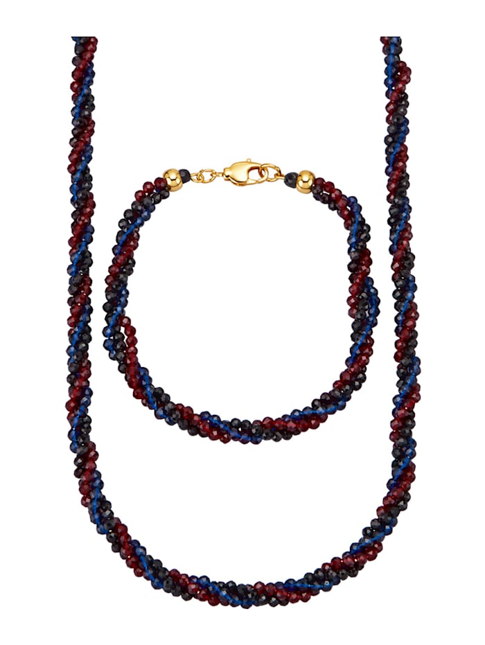 2-d. súprava šperkov so spinelom, Multicolor