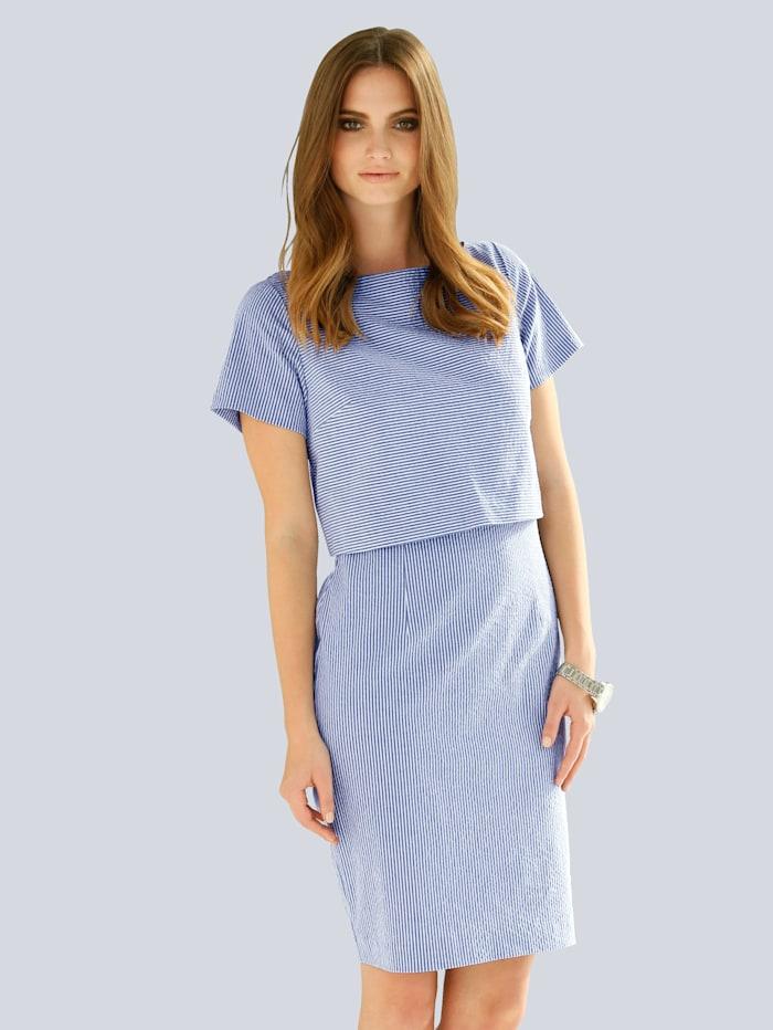 Kleid aus Seersucker-Qualität
